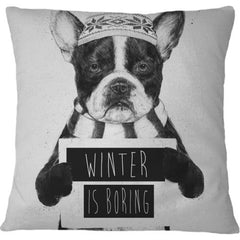 Cojin Winter is Boring - Galeria Impresionarte