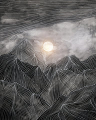 Canvas Lines in the mountains VIII - Galeria Impresionarte
