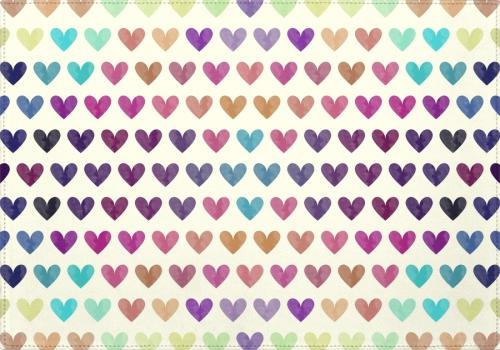 Individuales Colorful Hearts