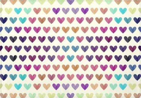 Individuales Colorful Hearts - Galeria Impresionarte