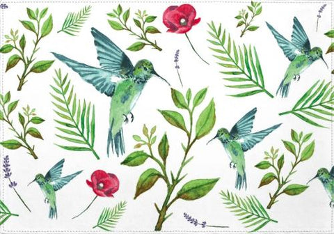 Individuales Leave, Birds and Flowers - Galeria Impresionarte