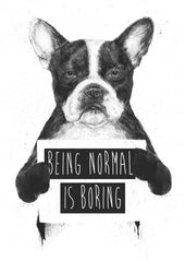 Being normal is boring - Galeria Impresionarte
