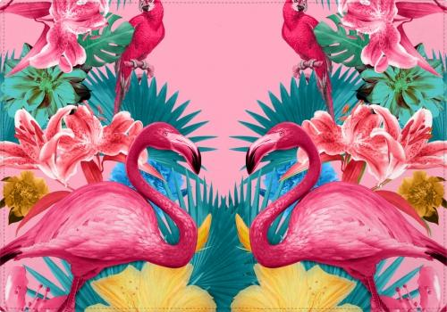 Individuales Flamingo and Tropical Garden