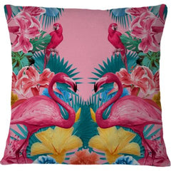Cojin Flamingo and Tropical Garden - Galeria Impresionarte