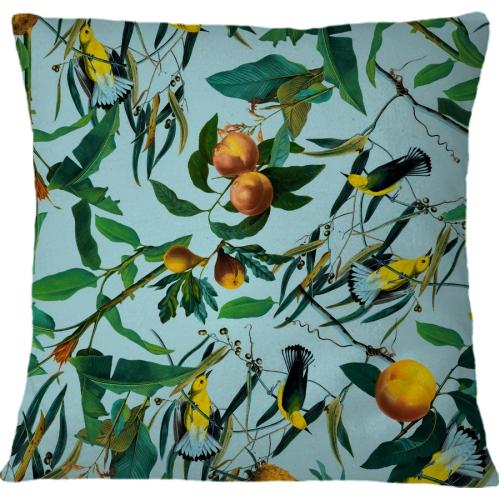 Cojin Fruit and Birds Pattern