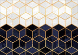 Individuales White And Navy Cubes - Galeria Impresionarte