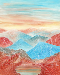 Canvas Lines in the mountains XX - Galeria Impresionarte