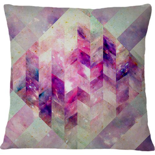 Cojin Abstract Geometric Pink Galaxy