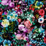 Canvas Multicolor Floral Pattern