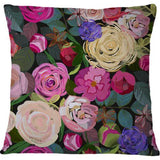Cojin Colorful Roses Floral Pattern