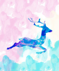 Canvas Abstract Deer X - Galeria Impresionarte