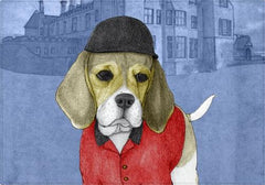 Individuales Beagle With Beaulieu Palace - Galeria Impresionarte