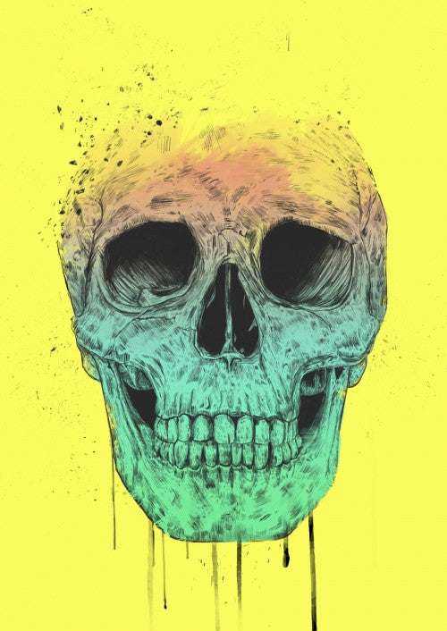Canvas Pop art skull - Galeria Impresionarte