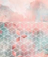 Canvas Rose Clouds And Cubes - Galeria Impresionarte