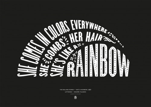 Canvas She's like a rainbow, The Rolling Stones - Black - Galeria Impresionarte