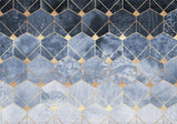 Individual Blue Hexagons And Diamonds - Galeria Impresionarte