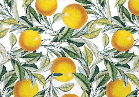 Individual Lemon and Leaf Pattern VI - Galeria Impresionarte
