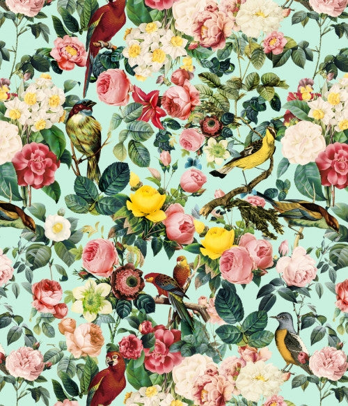 Canvas Floral and Bird III