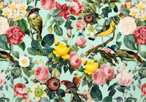 Individuales Floral and Bird III
