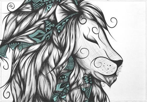 Individuales Poetic Lion Turquoise