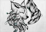 Individuales Fox B&W
