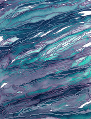 Canvas  AGATE MAGIC, TURQUOISE LILAC - Galeria Impresionarte