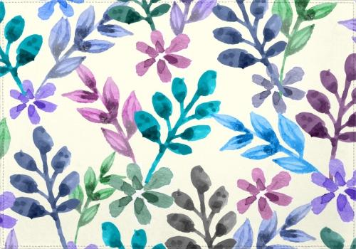 Individuales Watercolor Floral Pattern - Galeria Impresionarte