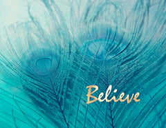 Canvas Believe in Aqua