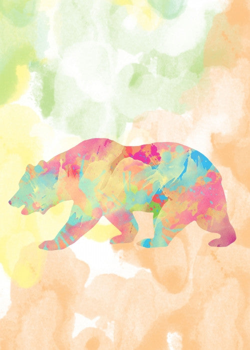 Canvas Abstract Bear