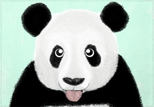 Individuales The Cute Panda - Galeria Impresionarte