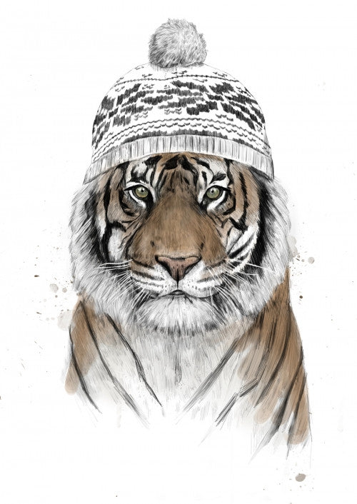 Canvas Siberian tiger