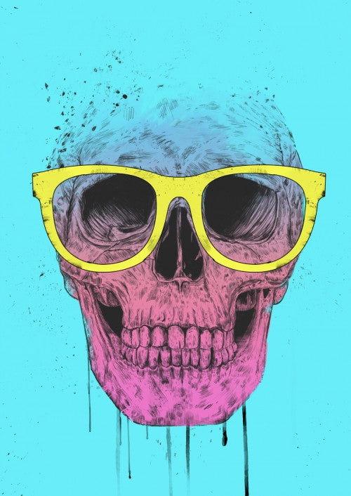 Pop art skull with glasses - Galeria Impresionarte
