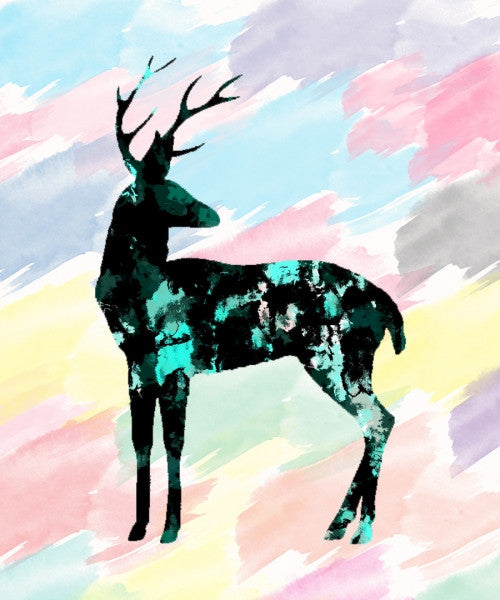 Canvas Abstract Deer