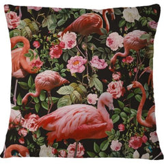 Cojin Floral and Flamingo Pattern - Galeria Impresionarte