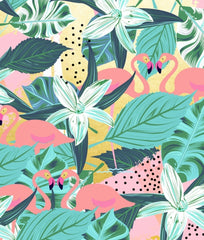 Canvas Flamingo Tropical