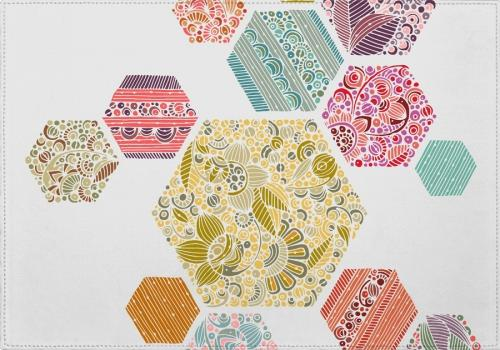 Individuales Summer honeycomb