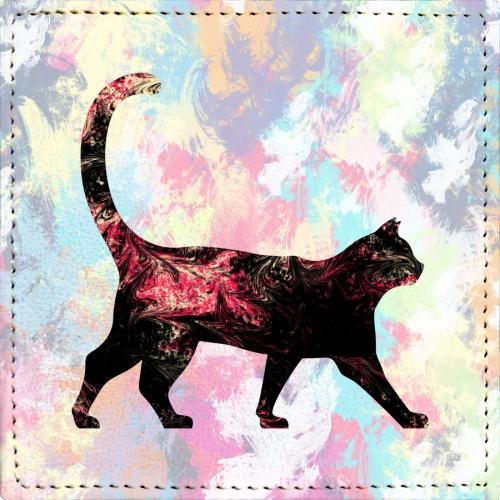 Posavasos Abstract Cat - Galeria Impresionarte