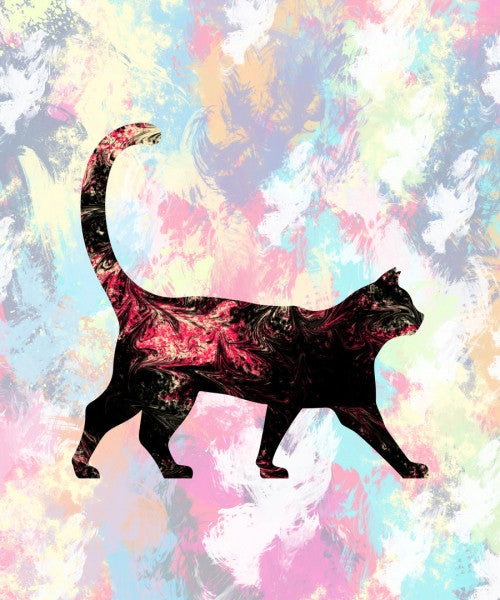 Canvas Abstract Cat