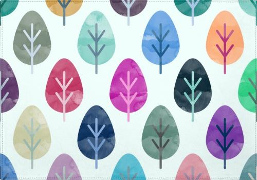 Individuales Watercolor Forest Pattern
