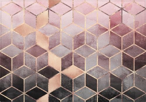 Individuales Pink And Grey Gradient Cubes
