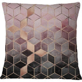 Cojin Pink and Grey Gradient Cubes