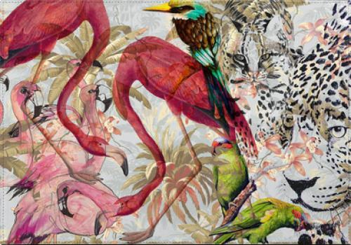 Individuales Pink Jungle - Galeria Impresionarte