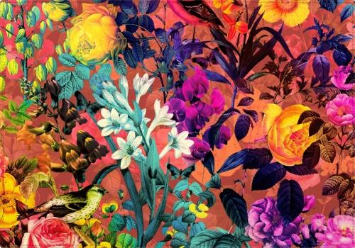Individuales Floral and Birds - Galeria Impresionarte