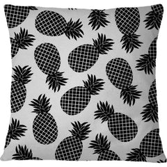 Cojin Pineapple In Black - Galeria Impresionarte