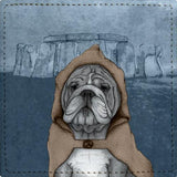 Posavasos English Bulldog With Stonehenge - Galeria Impresionarte