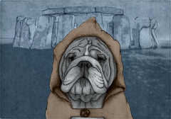 Individuales English Bulldog With Stonehenge - Galeria Impresionarte