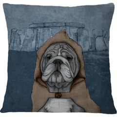 Cojin English Bulldog With Stonehenge - Galeria Impresionarte