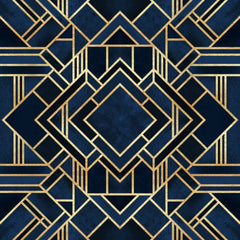 Canvas Art Deco Blue - Galeria Impresionarte