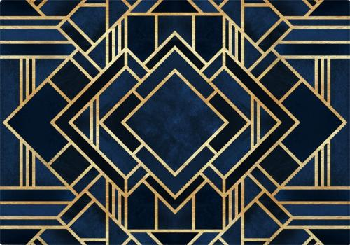 Individuales Art Deco Blue