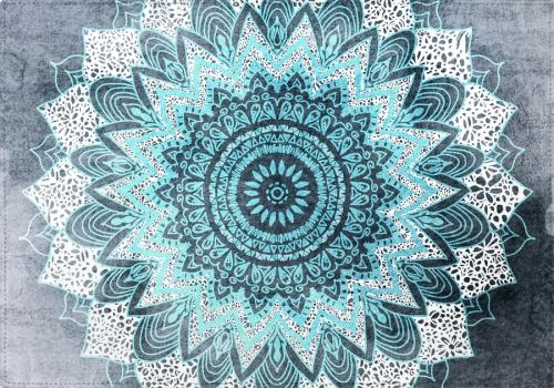 Individuales Bohochic Mandala in Blue